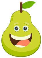 cartoon pear fruit character