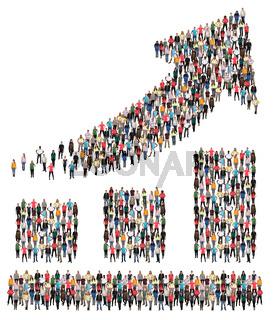 Balken Diagramm Business Menschen Gruppe Leute Menschengruppe Erfolg Wirtschaft Wachstum erfolgreich