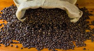 Coffee-beans in jute