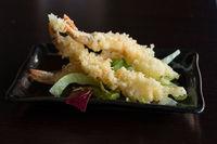Japanese cuisine tempura shrimps