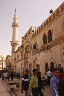 Die King Hussein Moschee in der Jordanieschen Hauptstadt Amman