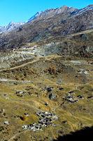 Der weitverstreute Weiler Findeln oberhalb von Zermatt
