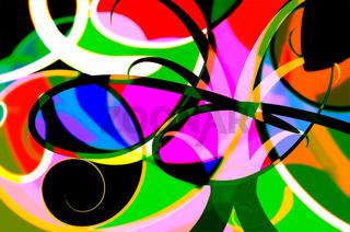abstrakte Klekse