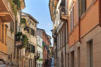 Narrow street in Verona, Italy