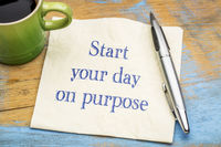 Start your day on purpose