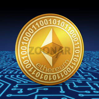 A coin of ethereum
