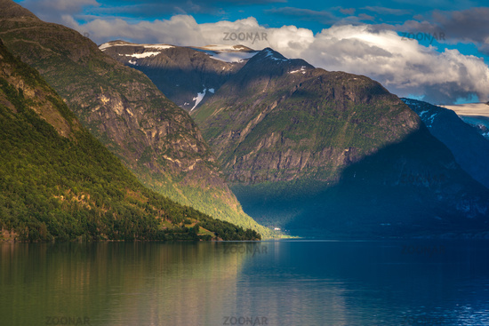 Beautiful landscape in Loen in Norway