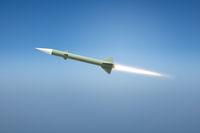 nuclear rocket bomb flying