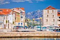 Kastel Novi turquoise harbor and architecture view