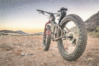 fat bike on a desert mountain trail