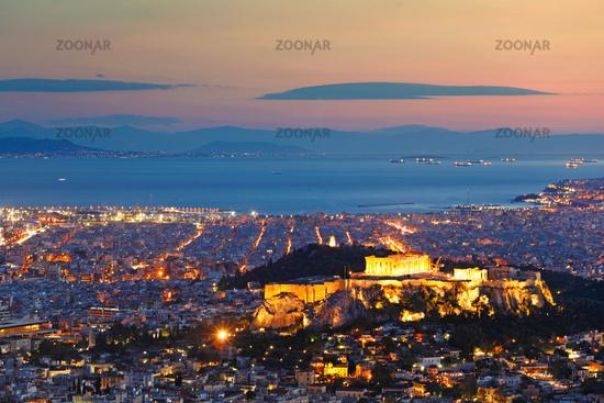 Athens after sunset, Greece