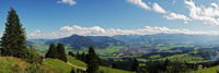 View from Mittagberg to Sonthofen and the Allgäu Alps