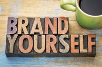 brand yourself in wood type