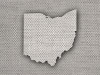 Karte von Ohio auf altem Leinen - Map of Ohio on old linen