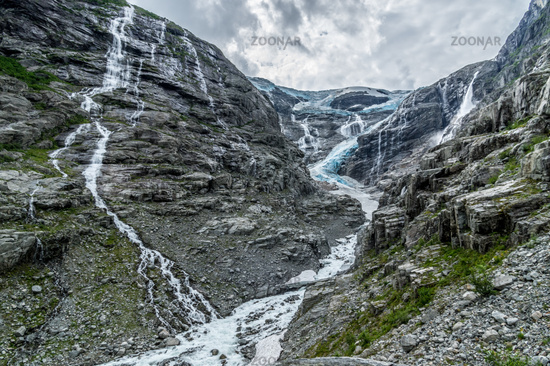 At the glacier in Norway