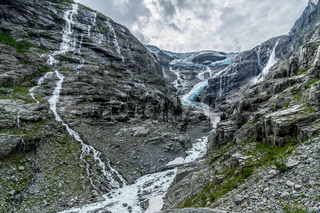 Am Gletscher in Norwegen