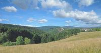 panoramic View to Village of Sankt Andreasberg in Harz Mountain,lower Saxony,Germany