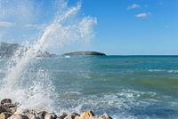 Water splashes in Istria, Croatia