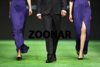 Fashion show runway beautiful model