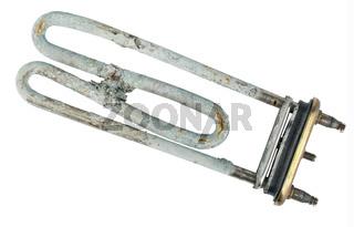 Broken heating element of water heater