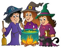 Three witches theme image 1 - picture illustration.