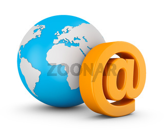 e-mail and globe