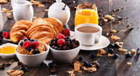 Breakfast served with coffee