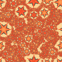 Orange Seamless Print Stylized Stars