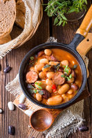 Polish Baked Beans with sausage