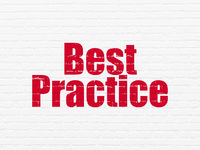 Learning concept: Best Practice on wall background