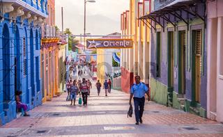 Main street of Santiago de Cuba