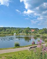 Lake Kranichsee in Hahnenklee-Bockswiese in Harz,lower Saxony,Germany