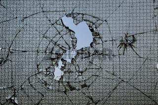 Fensterscheibe eingeschlagen