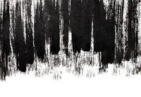 Grunge black thick brush strokes