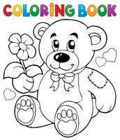 Coloring book Valentine theme 8