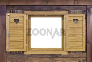 Wooden Challet Window