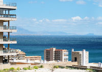 Mediterranean sea and coastline of Alicante city, Costa Blanca. Spain