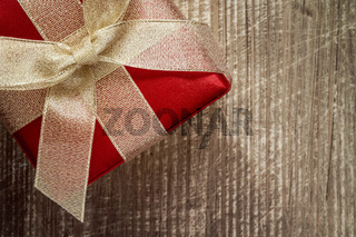 Decorative gift box with golden bow