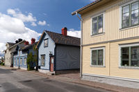 Timber Houses in Hjo in Sweden