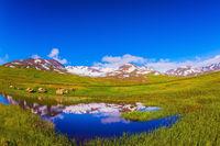 Summer Iceland. Photo taken fisheye lens