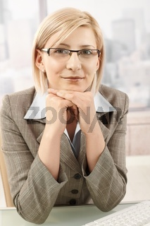 Portrait of smart businesswoman