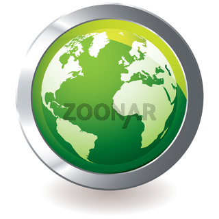 green icon earth globe