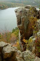Rock Formation at Wisconsin's Devils Lake State Park