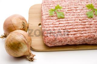 Hackfleisch mit Zwiebel