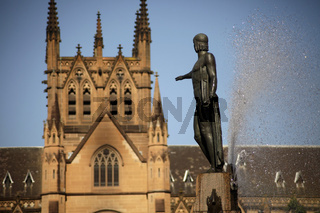 Archibald Fountain und St. James Church in Sydney