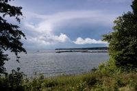 Lake Vaettern near Hjo in Sweden