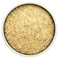 golden flax meal in a round bowl