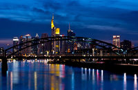 Frankfurt City Skyline night illuminated