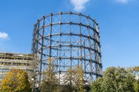 old gas storage and construction site found in Berlin