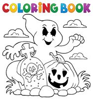 Coloring book ghost subject